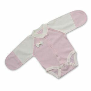 боди для недоношенных бантик розовый