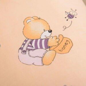 поплиновая пеленка медведик
